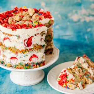 The ULTIMATE Vegan Funfetti Cake