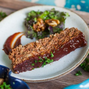 Hearty BBQ Glazed Lentil Loaf
