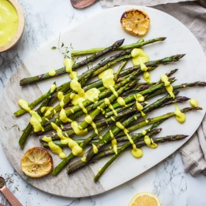 Roasted Asparagus with Creamy Vegan Hollandaise