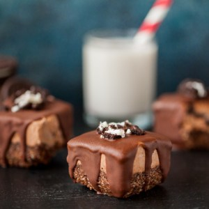 Vegan Cookies 'n Cream Ice Cream Bars (easy, no-churn, gluten-free, superfood, healthy dessert, kid-friendly)