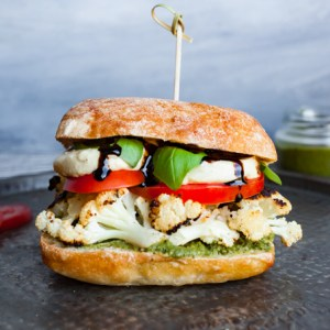 Vegan Caprese + Cauliflower Panini