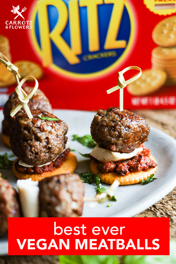 AMAZING vegan meatballs just like Grandma used to make! Perfect for a quick and easy dinner or delicious plant-based party snack or appetizer