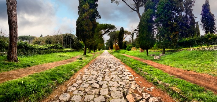 Exploring Ancient Appian Way On Bicycle