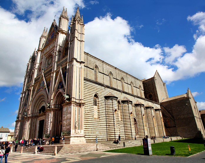 Il Duomo cathedral in Orvieto, Italy