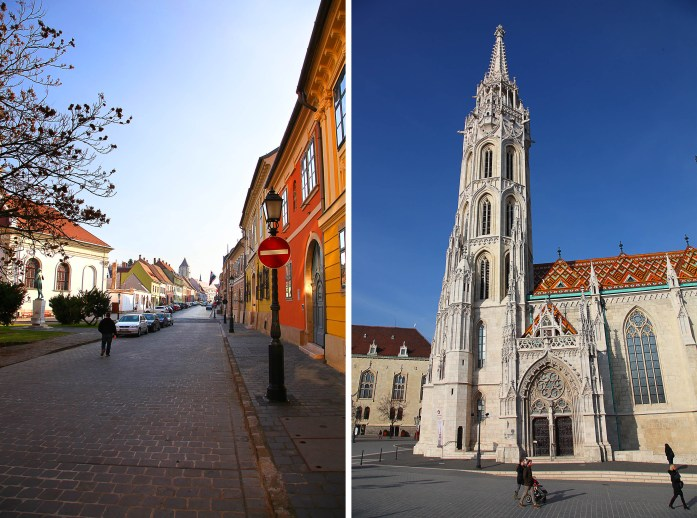 Castle District Street and Matthias Church
