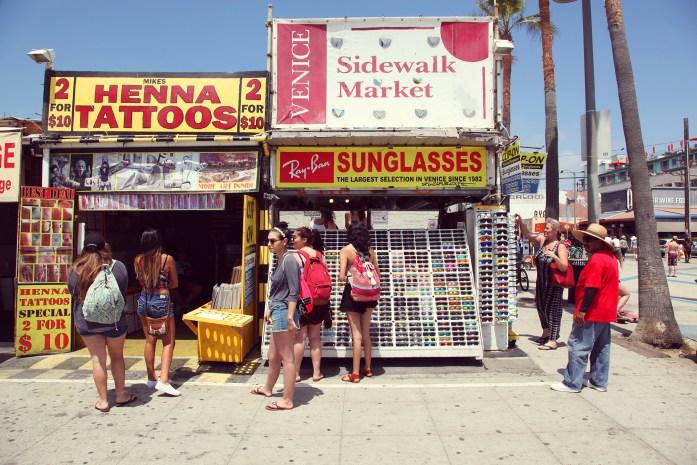 Venice Beach Boardwalk Tourists