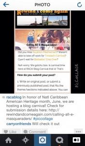 screenshot from COF RACA instagram