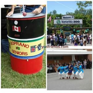 steel pan toronto zoo and indian dancers