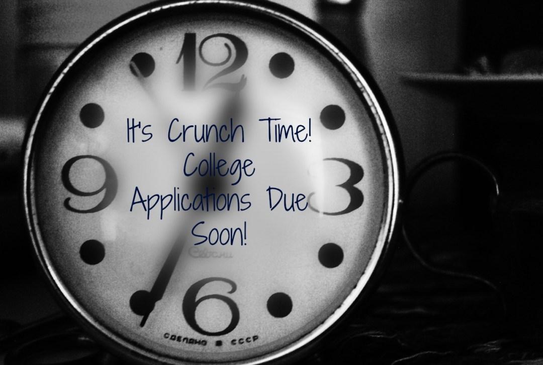 college applications deadline