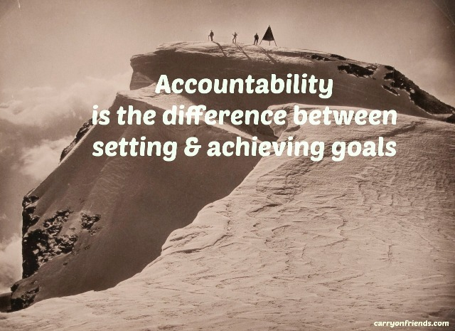 accountability is the difference with people on a mountain