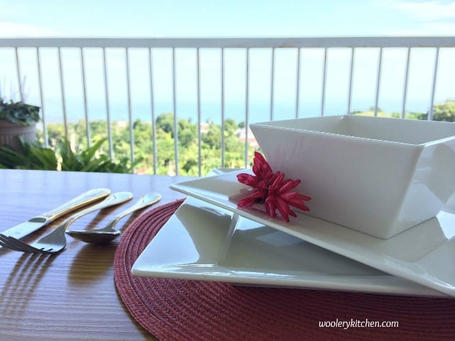 Table and Balcony View at Woolery Kitchen in Chalky Hill St Ann Jamaica