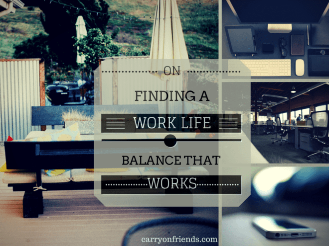 finding work and life balance that works with backyard office computer desk and cell phone