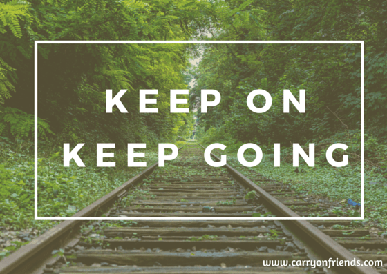 keep on keep going train tracks and trees