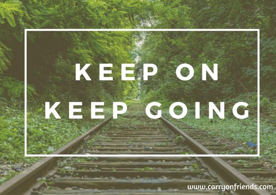 keep on keep going train tracks and trees