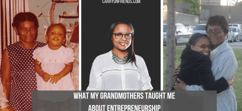 Kerry-Ann and her two Caribbean grandmothers who taught her about entrepreneurship