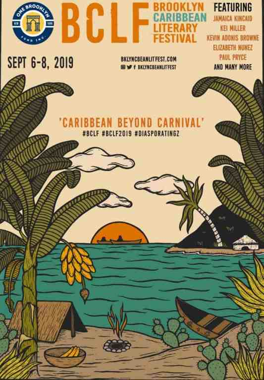 Poster of the Brooklyn Caribbean Literary Festival celebrating Caribbean Literature