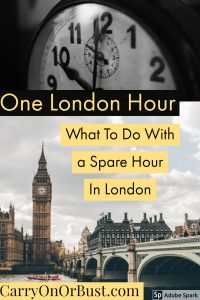So, you have a spare hour in London - what do you do with that time? Well in this series, I tell you what I would do with in One London Hour from various major locations in London, because let's face it London is pretty big!