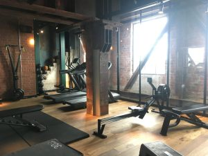 indoor gym at steam hotel