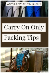 carry on only pcking tips wardrobe and suitcase