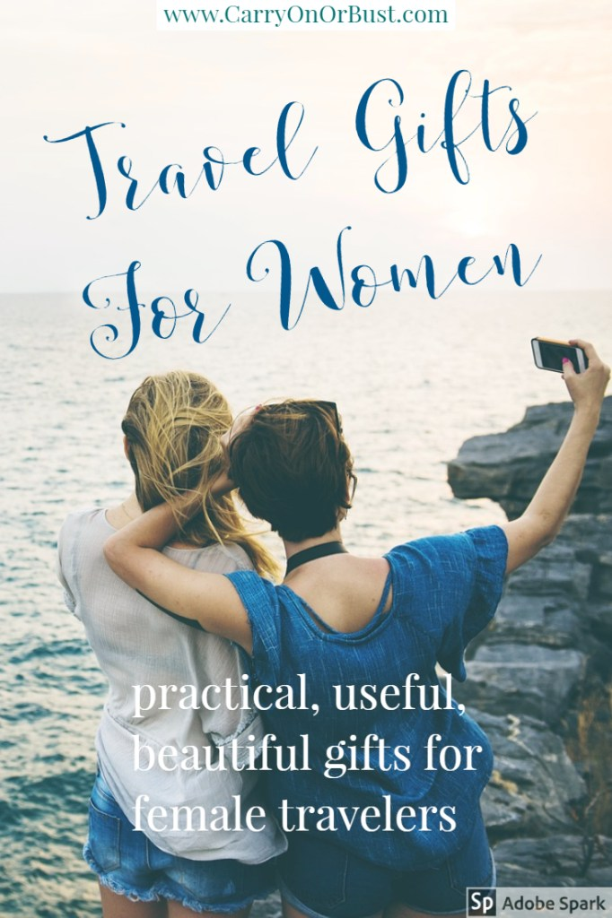 travel gifts for women, women travellers with text
