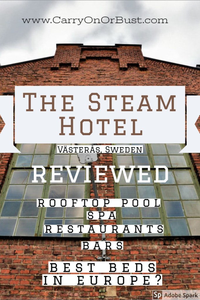 The Steam Hotel in Västerås is a perfect example of quirky style and luxury - run well and lush the experience at this Västerås hotel is like none other. come and read about the beds, the spa, and of course the FOOD! #travel #hotels #luxury #sweden #accommodation #review