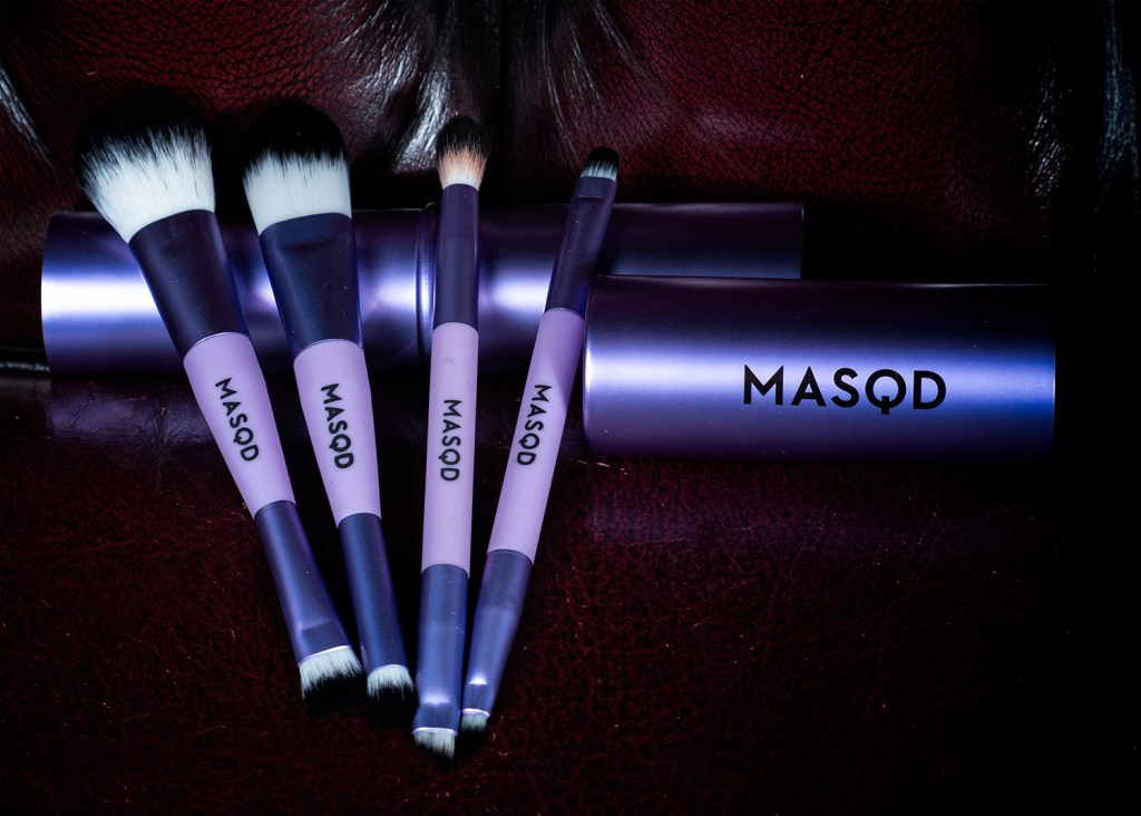 close up of masqd travel brushes