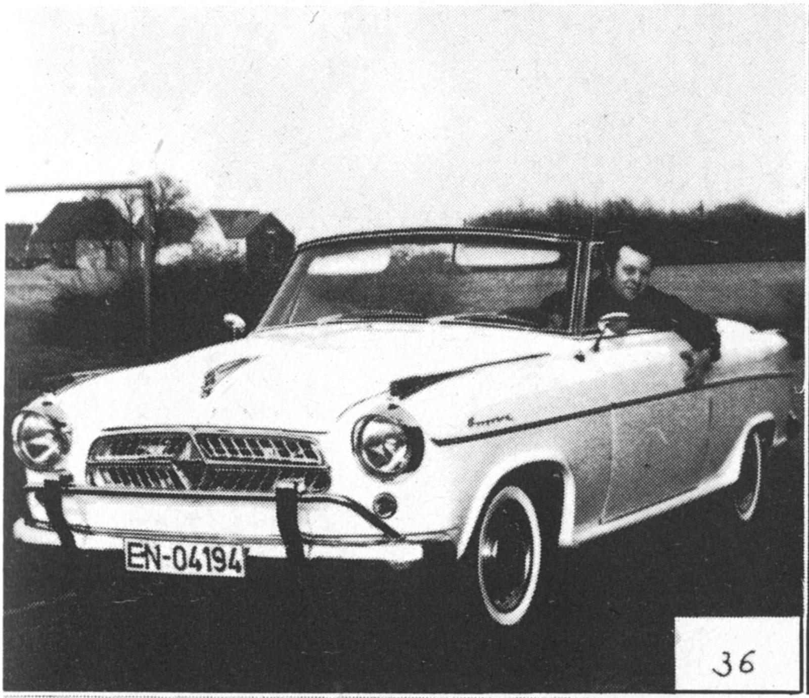 Startnummer 36 – Borgward Isabelle Cabrio 1959