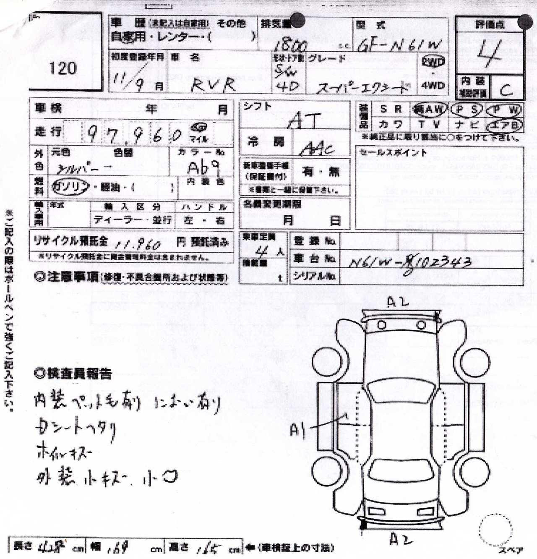 Mitsubishi Rvr Specs Engine Size Cm3 Fuel Type