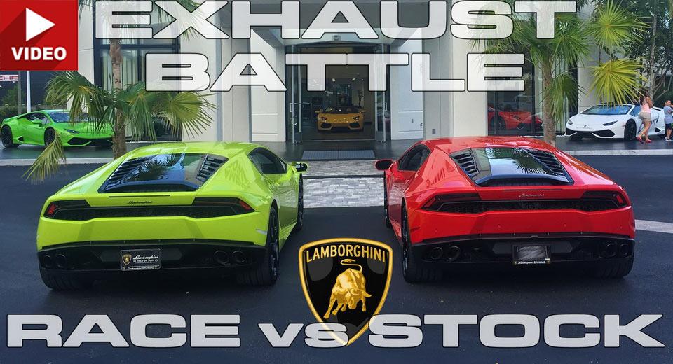 lamborghini huracan rev battle race vs