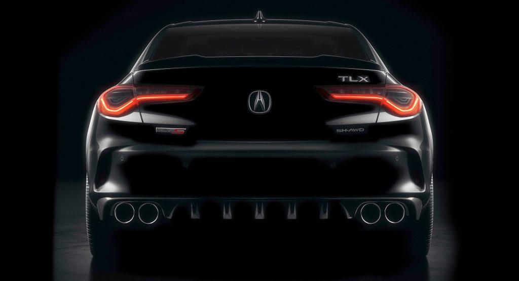 2021 acura tlx teased ahead of may 28