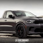 2021 Dodge Durango Srt Hellcat Looks Way More American As A Pickup Carscoops