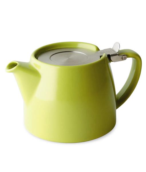 Stump teapot lime green