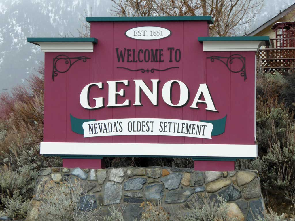 Genoa Welcome Sign