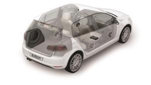 Audison APBX G6 - CUSTOM SUB-BOX for GOLF6 250mm 4Ohm
