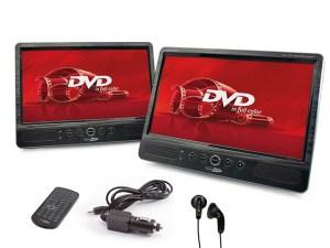 "Caliber MPD2010T 10""LED 2x DVD-Portabel DVD Player inkl 2x DVD-Bracket KFZ Halter !!"