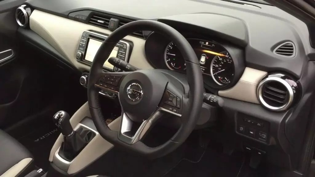 2017 nissan micra interior dashboard carspiritpk. Black Bedroom Furniture Sets. Home Design Ideas