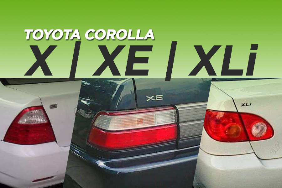 X, XE, XLi- The Most Popular Corolla Grades in Pakistan