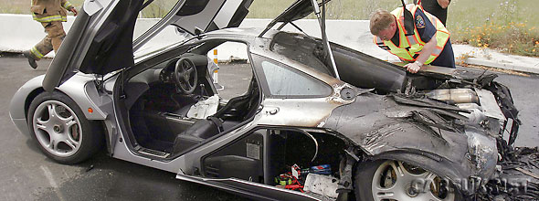 Brings a tear to the eye - a burnt-out McLaren F1