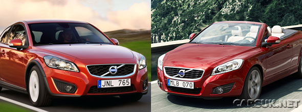 Price and model details for the 2010 Volvo C30 and C70 have been released.