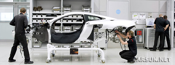 First McLaren MP4-12C being built