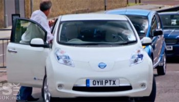 Top Gear Nissan Leaf Peugeot Ion Electric Car Episode Spoofed