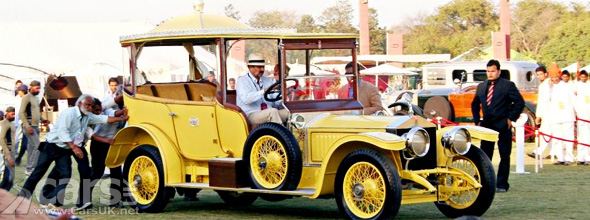 Yellow Restored 1912 Rolls Royce Silver Ghost Throne, owned by Nizam of Hyderabad