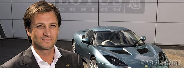 Photo of Dany Bahar and Lotus car