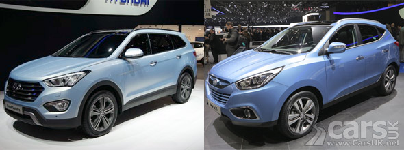 New Hyundai ix35 & Grand Santa Fe at Geneva 2013 photo