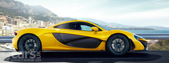 McLaren P1 with bare carbon fibre panels