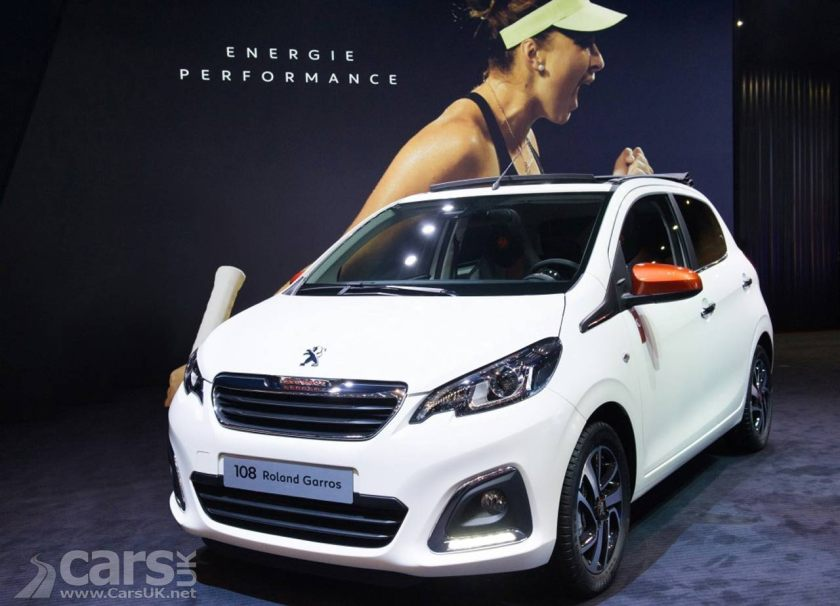 peugeot reveal roland garros special editions and new 108 gt line cars uk. Black Bedroom Furniture Sets. Home Design Ideas