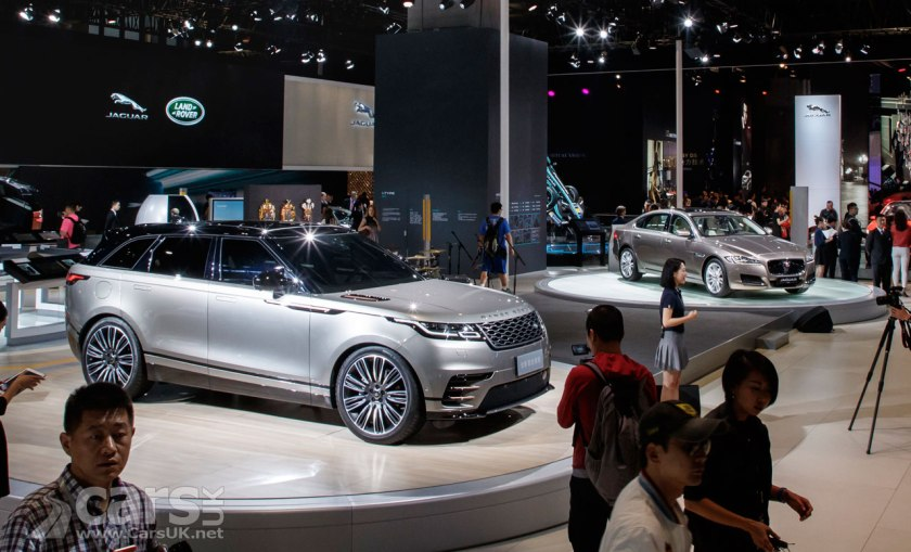 Photo Range Rover Velar and Jaguar i-Pace Shanghai