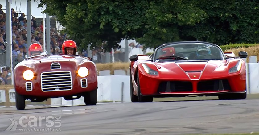 Photo Ferrari LaFerrari Aperta and 125S hit the Goodwood hillcimb