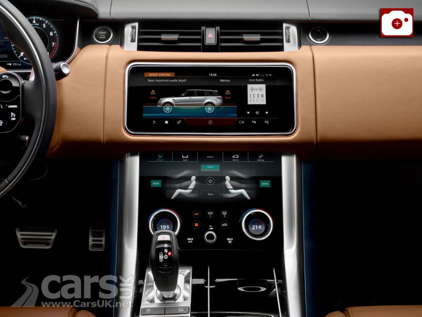 The 2018 Range Rover Sport gets an interior makeover from the Velar