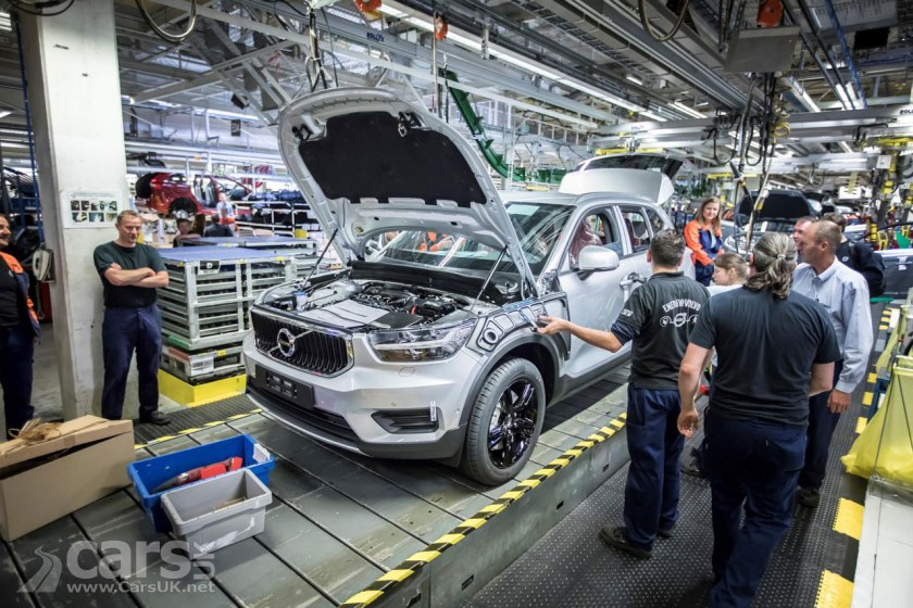 The Volvo XC40 (pictured in pre-production) will start rolling off Volvo's production line in Ghent today
